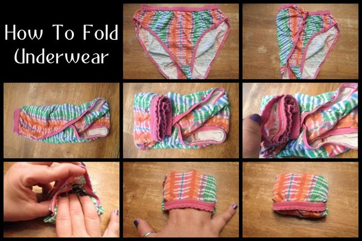 How To Fold And Underwear On Pinterest