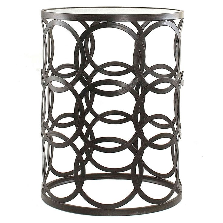 Steel Coffee Table Circles: 'Circles' Metal Barrel End Table By Innerspace
