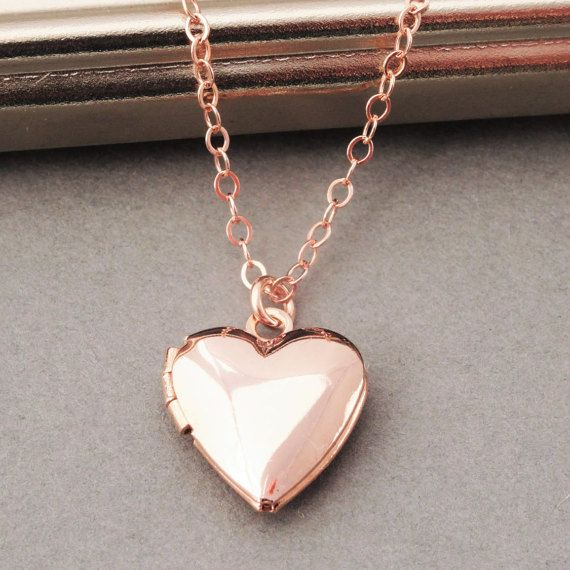 Rose Gold Locket Necklace Heart Locket Necklace by BeautifulAsYou - This is simply beautiful!