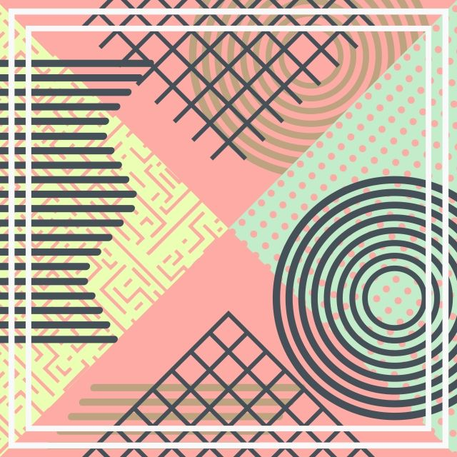 Geometric Abstract Pattern Background Vector With Pastel Color