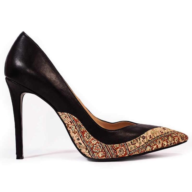 Stiletto high heels inspired by Persian culture. Made from natural leather and…