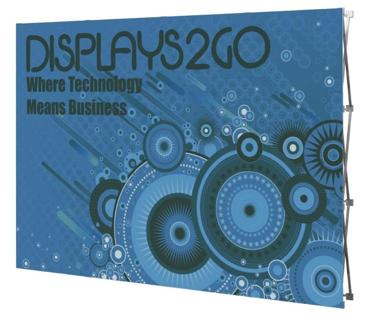 10' Pop Up Trade Show Banner Backdrop with Custom Printed Graphics