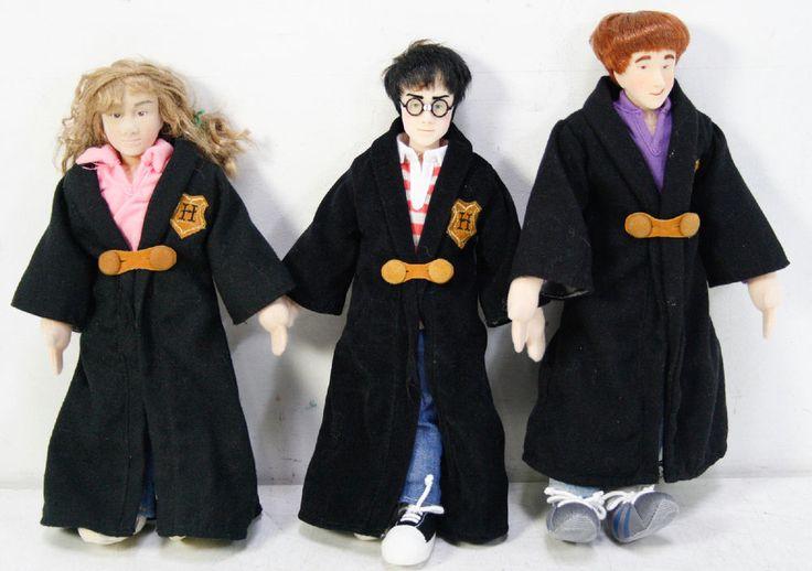 """Lot Of 3 Gund Harry Potter 12"""" Plush Dolls Ron Weasley Hermione Granger #GundHarryPotter"""