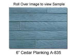 "6"" Cedar Panking A-835 Concrete Stamp Patterns For Sale and Rental-Sterling Heights, MI"