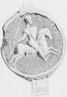 Seal of Alan fitz Walter; 2nd High Stewart of Scotland 1140-1204; my 26th great grandfather