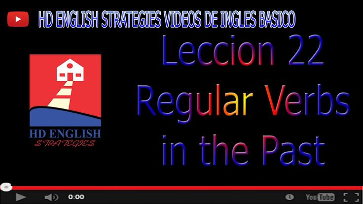 Aprende Ingles Basico Leccion 22 Regular past verbs