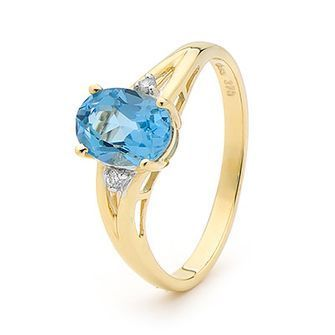 Buy our Australian made Bold Blue Topaz and Diamond Ring - BEE-24846-BT online. Explore our range of custom made chain jewellery, rings, pendants, earrings and charms.