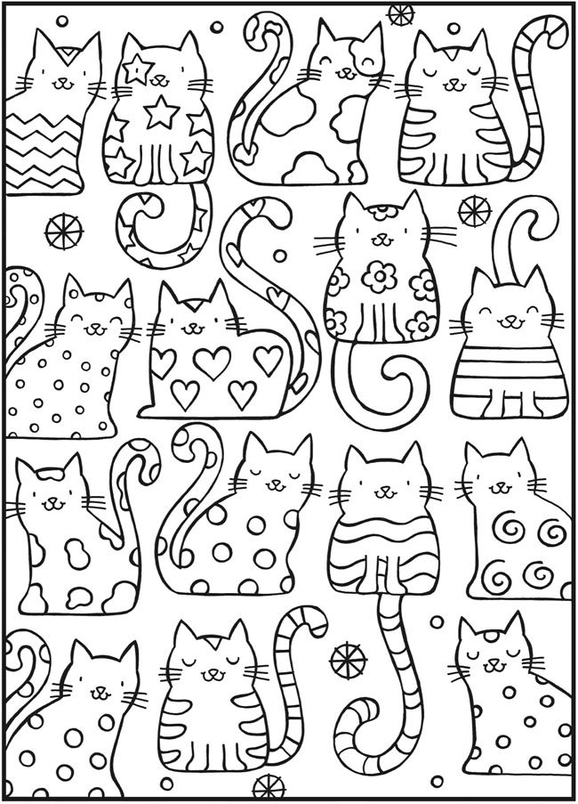 211 best Art: Cat Coloring images on Pinterest | Coloring books ...