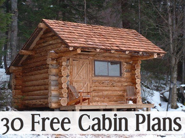 30 free cabin plans for diy 39 ers cabin 30th and big for Small easy to build cabin plans