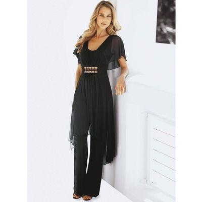 combinaison pantalon manches papillon de soir e femme votre mode 3 suisses futal pinterest. Black Bedroom Furniture Sets. Home Design Ideas