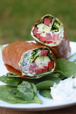 Food and Yoga for Life: Raw Ranch Veggie Wraps