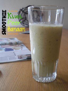 Kiwi peer banaan smoothie