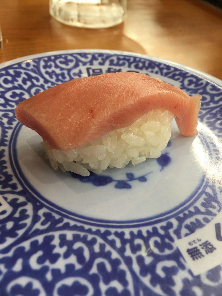 Delicious fatty tuna from a revolving sushi bar in Okinawa. #sushi #food #foodporn #japanese #Japan #dinner #sashimi #yummy #foodie #lunch #yum