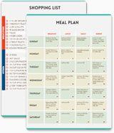 Diet plan calendar template