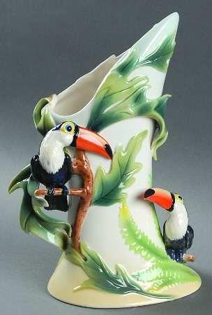 Franz Collection Paradise Calls   Toucan   Vase