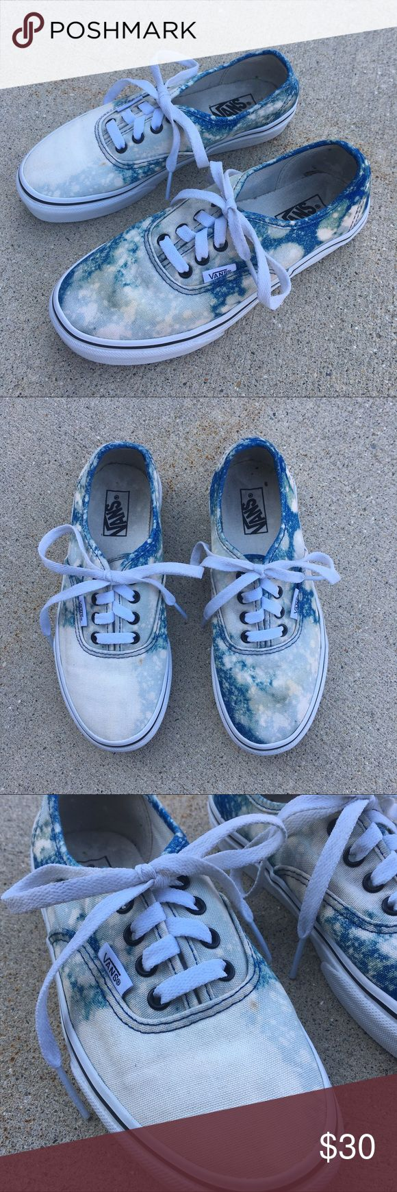 Custom* Acid Wash Vans Custom made Vans shoes. Youth size 2! Worn a few times but in amazing condition. Vans Shoes Sneakers