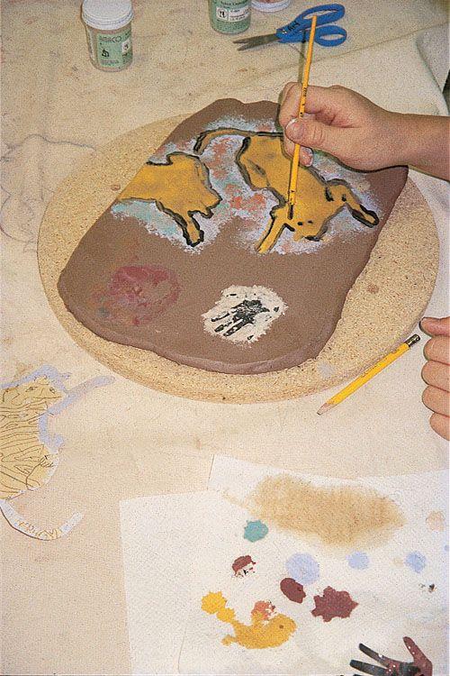 Cave Art ceramics lesson