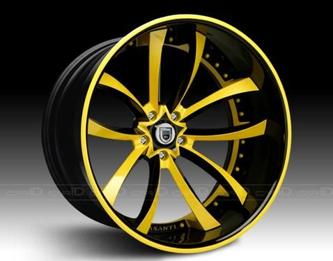 custom car rims yellow google search