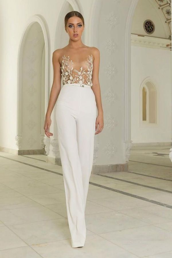 141 best Bridal Pant suits images on Pinterest | Maxi romper ...