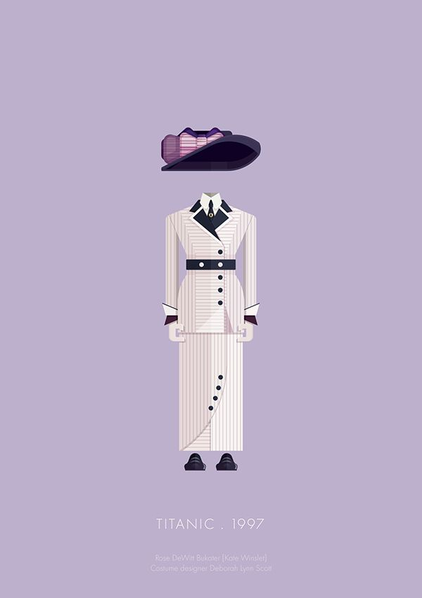 Titanic (1997) ~ Minimal Movie Poster by Frederico Birchal ~ Costume Series #amusementphile