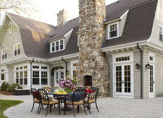 Exterior Color for Brown Roof Homes: Ben Moore Wood Ash