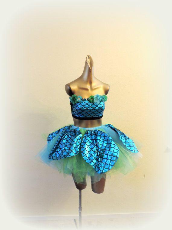mermaid costume fish costume sea queen ocean princess by TutuHot