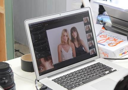 SS13 behind the scenes campaign shoot