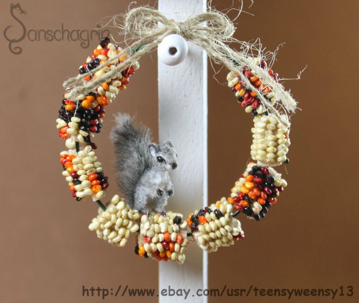 So a little behind due to power outage but here it is my first tutorial. During research for my little grey squirrel, I found a cute picture of a corn wreath used to distract the squirrels from eat…