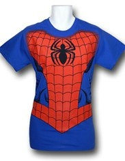 I know a certain child who might really enjoy this.  Spiderman Costume T-Shirt