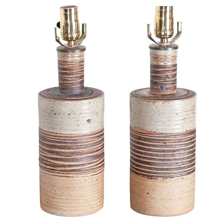 1stdibs.com | Pair of Tue Poulsen Stoneware Lamps