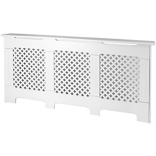 Roost Extra Large White Radiator Cover Cabinet