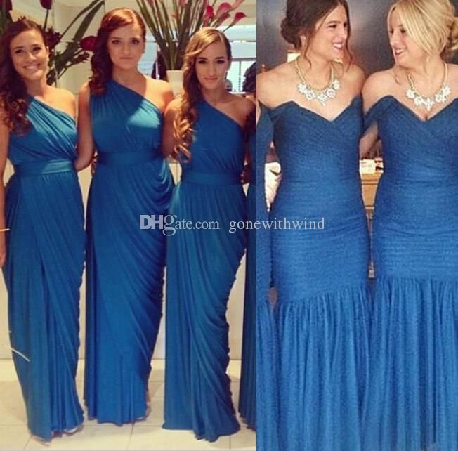 2 Style2016 Royal Blue Bridesmaid/Prom Dresses For Wedding Elegant Floor Length Wedding Guest Dresses Floor Length Bridesmaid Dresses Gold Bridesmaid Dresses Uk From Gonewithwind, $70.36| Dhgate.Com