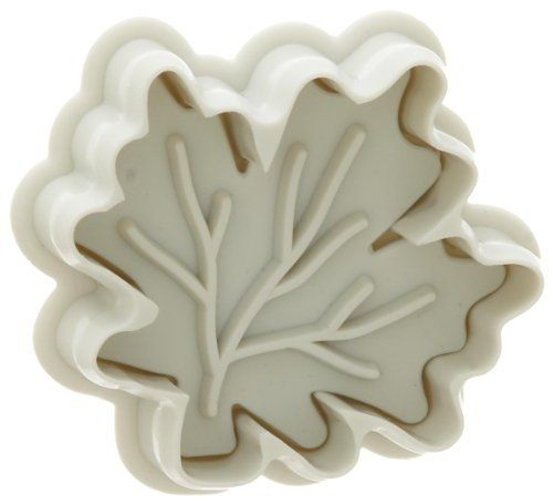 Cut, emboss and press out sugar paste decorations with this 2-inch leaf-shaped plunger cutter. It's made of durable and long lasting plastic and is dishwasher safe. Made by Ateco. Since 1905, Ateco has supplied fine restaurants and bakeries with quality built, specialty baking tools. Ateco products are internationally renowned for their high quality. When you use Ateco products, you're not only enjoying quality craftsmanship, you're also enjoying quality design; the products are a result of…