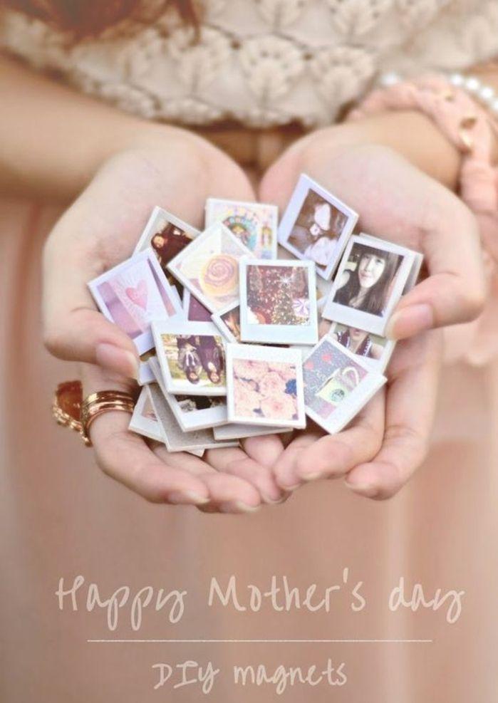 des aimants personnalisés avec des photos imprimées, cadeau fête des mères à fabriquer soi meme