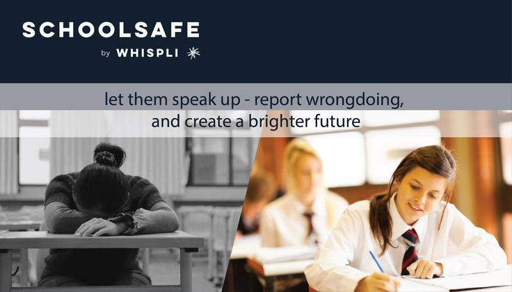Create an optimal school environment - Use SchoolSafe to let students speak up.  Request more information or start your 14 day free trial today.