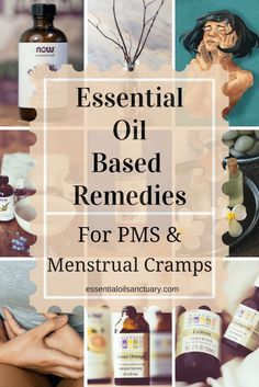 Natural DIY Essential Oil Remedies for PMS & Period Pain ❤ Purasentials.com ❤ essential oils with love