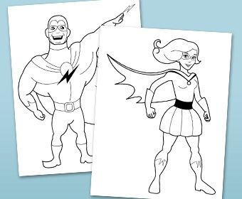 free generic superhero coloring pages - photo#21