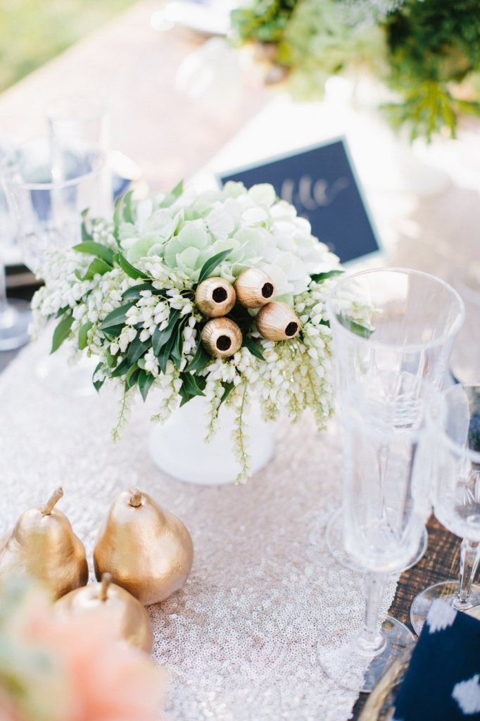 Best 25 christmas decorations australian ideas on pinterest gold and white outdoor wedding table setting love the gold gumnuts for an australian wedding junglespirit Image collections