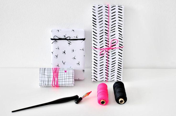 miss red fox: Das Speedball Kalligraphie Set im Test und Geschenkpapier verzieren /// Testing the Speedball Calligraphy Kit and decorating gift wrapping paper*