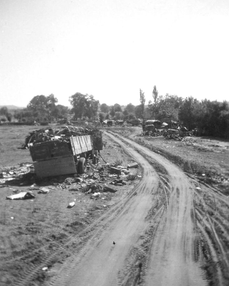 Falaise Gap, Normandy, in August 1944, a few days after the battle there