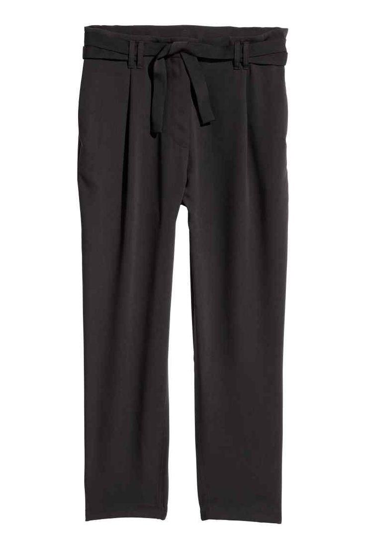Pantalon ample - Noir - FEMME | H&M CA 1