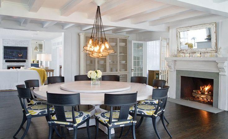 East Hampton Beach House Dining Room Inspired Home