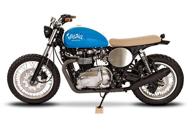 Maria Triumph Thruxton: Maria Motorcycles, Bike, Triumph Motorcycles, Triumph Thruxton, Mariamotorcycl, Photo Galleries, Custom Triumph, Mighty Blue, Cafe Racers