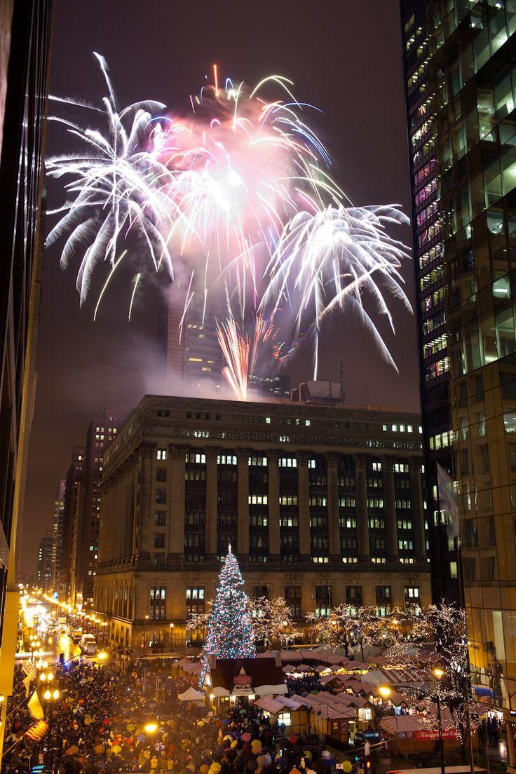 Chicago Christmas tree lighting 2013
