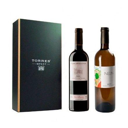 La tienda online de productos gourmet 'Érase un gourmet' ofrece este Surtido 'Degustación' Selección Torres Import. Incluye una botella de vino Clos Mogador y otra de vino blanco Nelin.