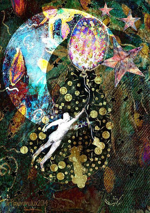 Night Flight  Digital Art by mimulux patricia no