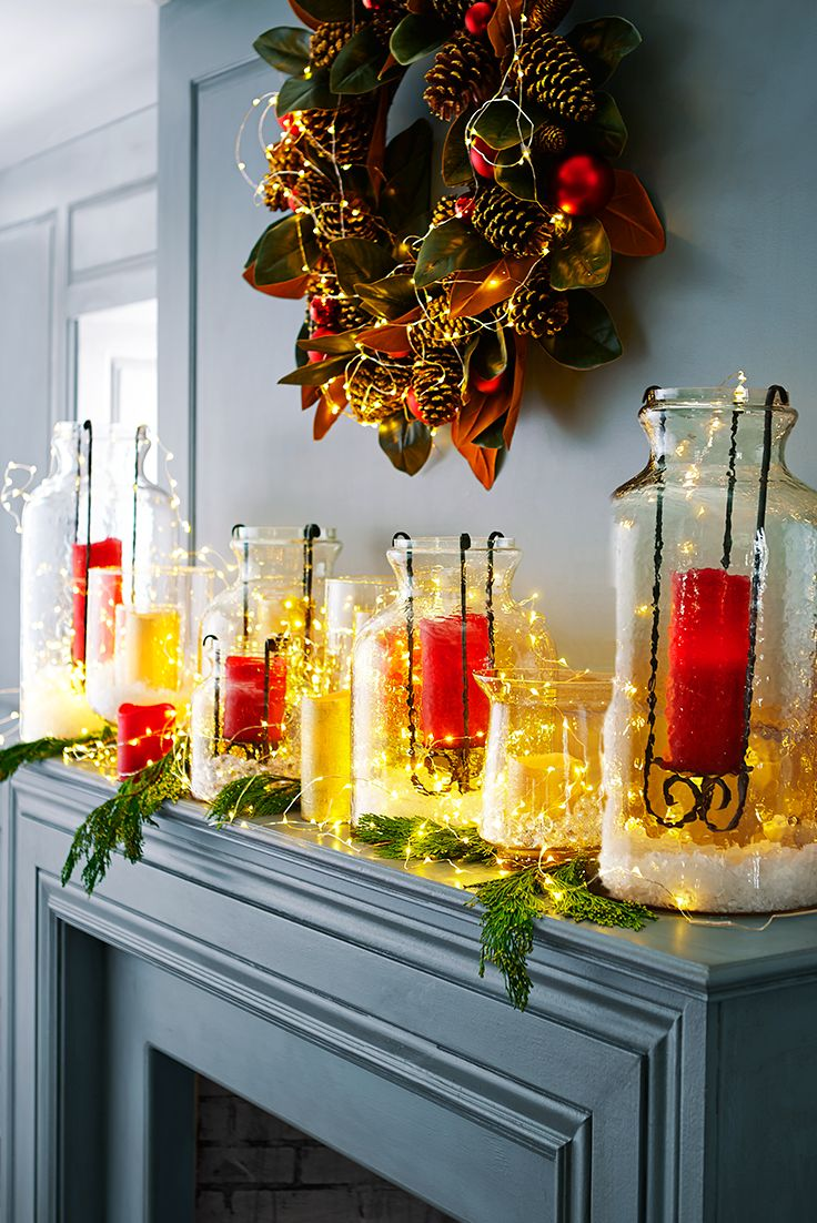 Spread that magical Christmas glow all over the house with Pier 1's battery-powered Glimmer Strings®. They use tiny (some would say magical) LEDs the size of a grain of rice strung along shapable, thread-sized silver filament to create a weightless, firefly-like effect. Weave them through wreaths and centerpieces, or string them along mantels, banisters and trees—indoors and in covered outdoor areas.