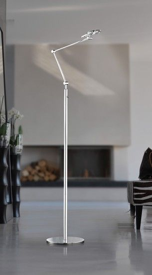 Stojací lampa LED WOFI WO 3909.01.01.0000 (LUX)   Uni-Svitidla.cz Moderní #stojací #lampa se stmívačem a paticí LED pro světelný zdroj #modern #lamp #floorlamp #lamps #stojacilampy #lampy #design #professional #shades #dimmable