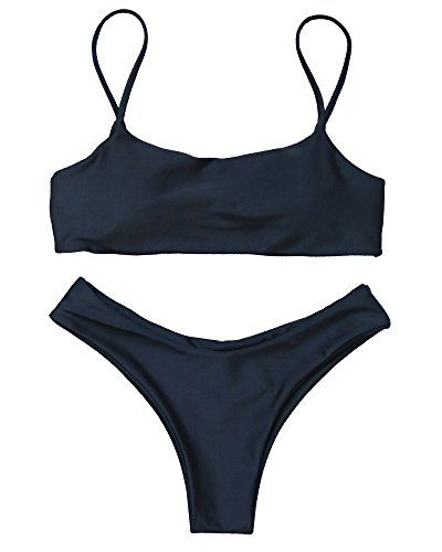 e6d5661b82 Women Bikini Set Solid Color Padded Brazilian Beach Two Piece Swimsuit --  Check out this great product. (This is an affiliate link)  twopieceswimsuits