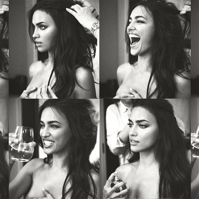 Irina Shayk shared a collage of black and white photos before the 2015 Met Gala